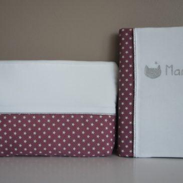 Protège carnet de santé et trousse de toilette pour Manon