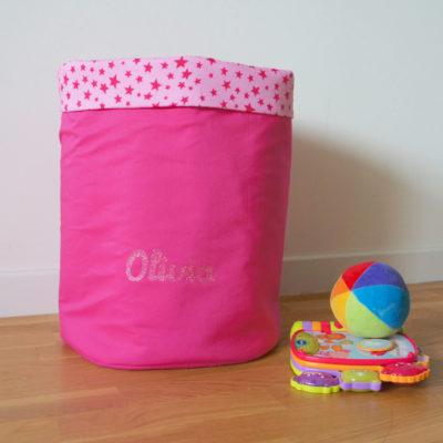 Corbeille à jouets en tissu