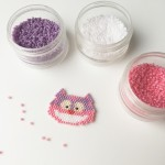 Chat de Cheshire en tissage Brick Stitch [diagramme]