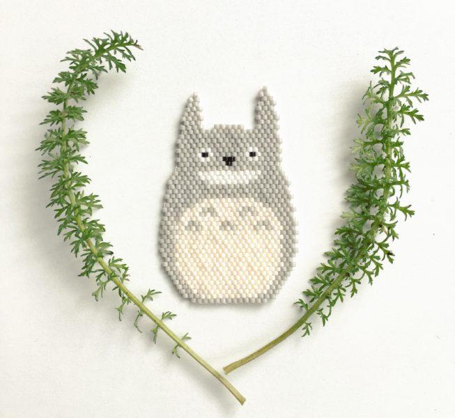 Totoro en perles Miyuki