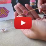 Tutoriel vidéo pour apprendre le tissage de perles brick stitch