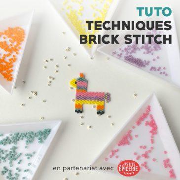 Tutoriel des techniques du brick stitch – Pas-à-pas de la pinata