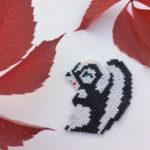 La moufette Fleur en perles miyuki [diagramme]