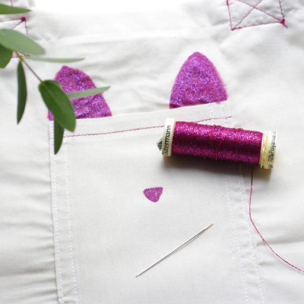 Tuto tote bag - peinture textile et broderie