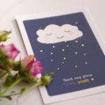 Illustration diagramme Doux nuage et pluie dorée