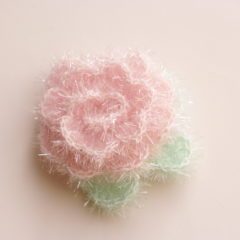 Fleur en laine éponge