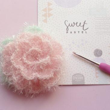 Tutoriel – Crocheter une fleur avec la laine éponge