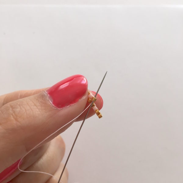 Tissage perles Miyuki brick stitch