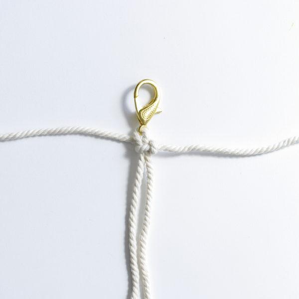 Porte-clefs macramé - tutoriel diy