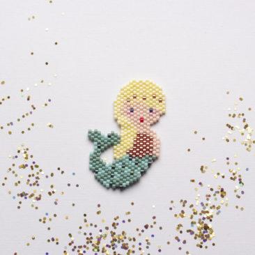 Sirène en perles Miyuki