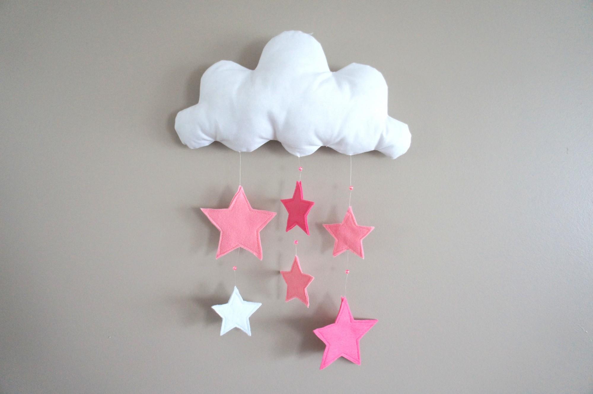 Mobile nuage et étoiles pour Olivia