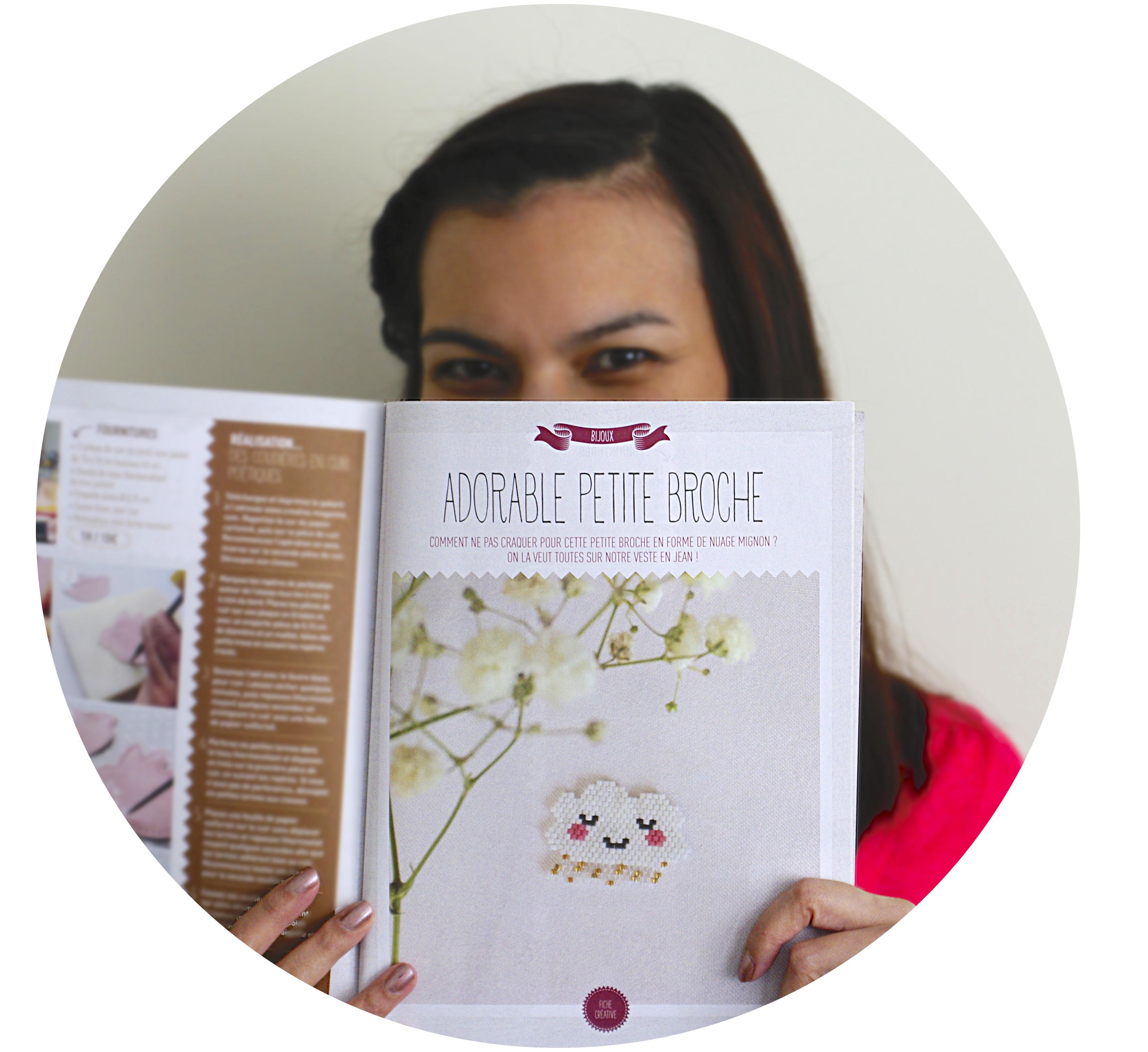 """Parution Presse – Créative Magazine et mini-kit """"Doux nuage et pluie dorée"""""""