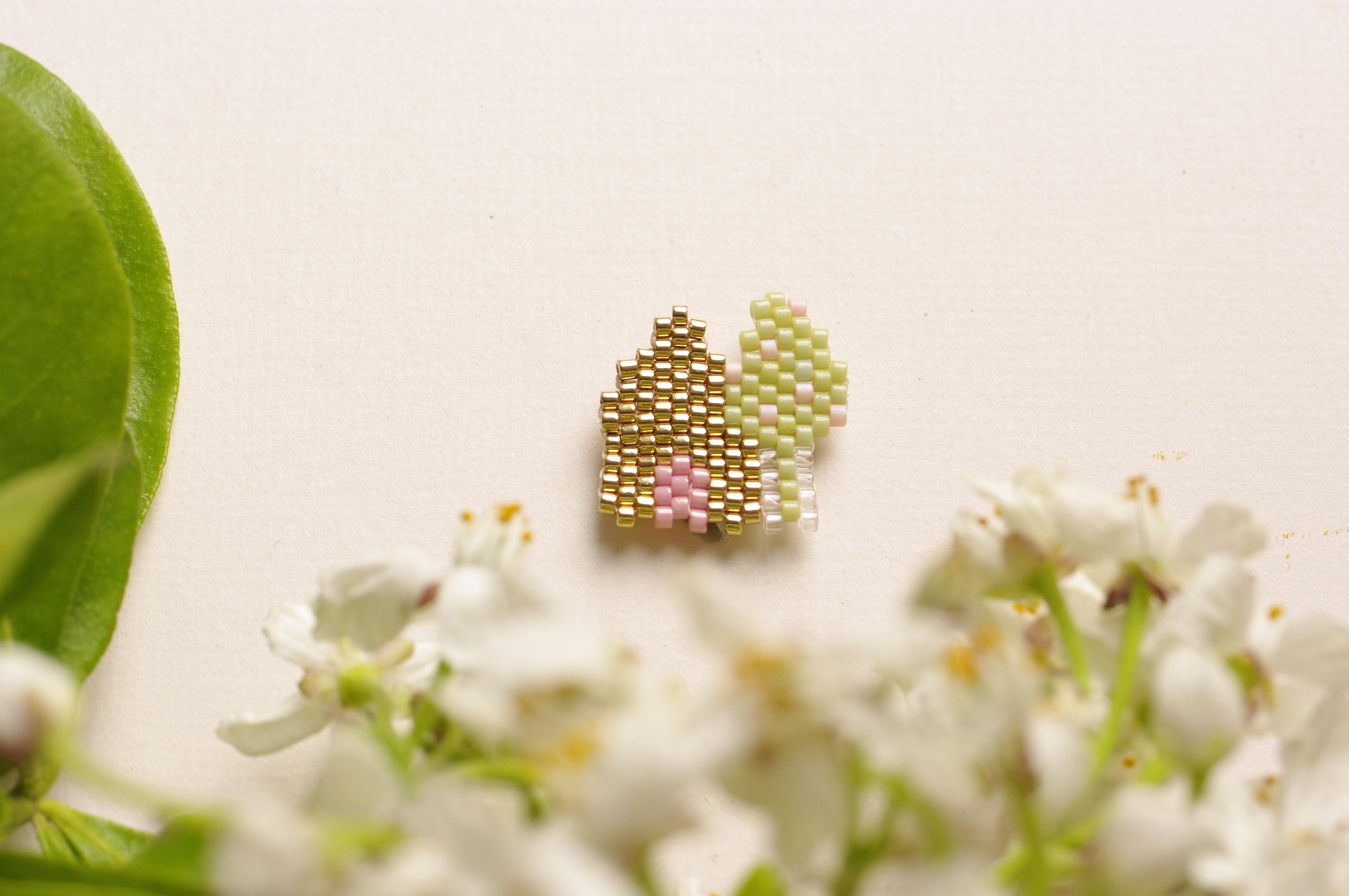 Petite maison et arbre en perles Miyuki