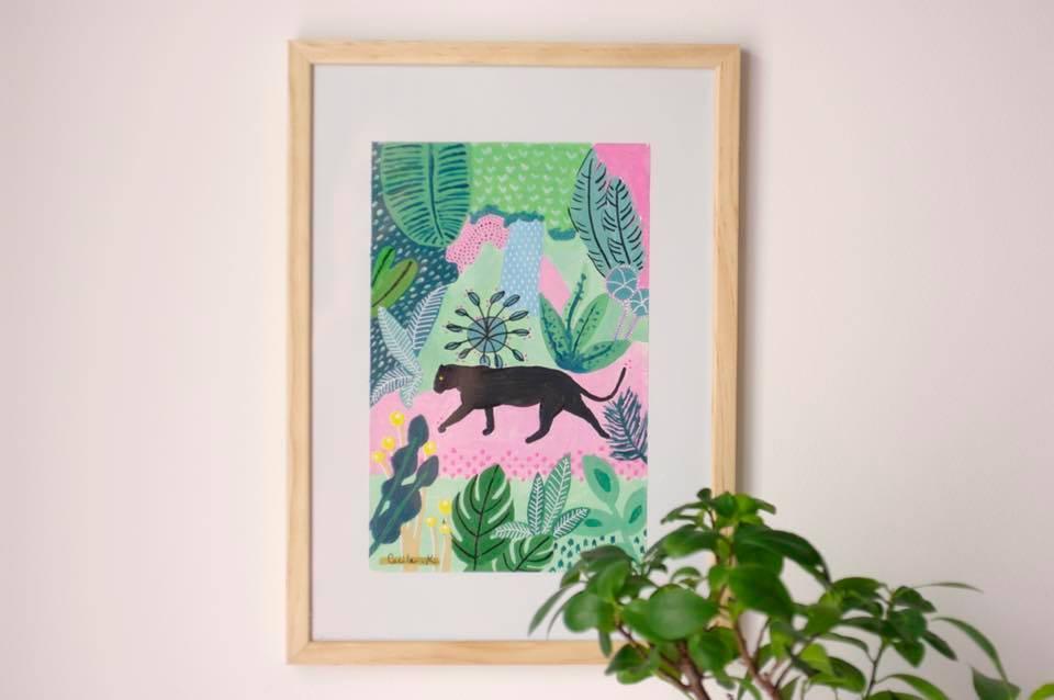 Panthère noire jungle